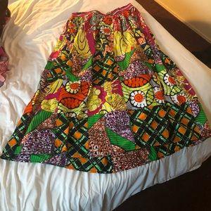 Grass fields Freda patchwork skirt